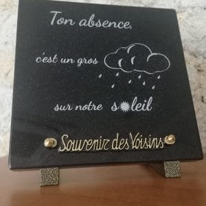 Plaque à message